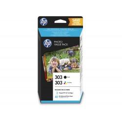 HP 303 negro/tricolor con...