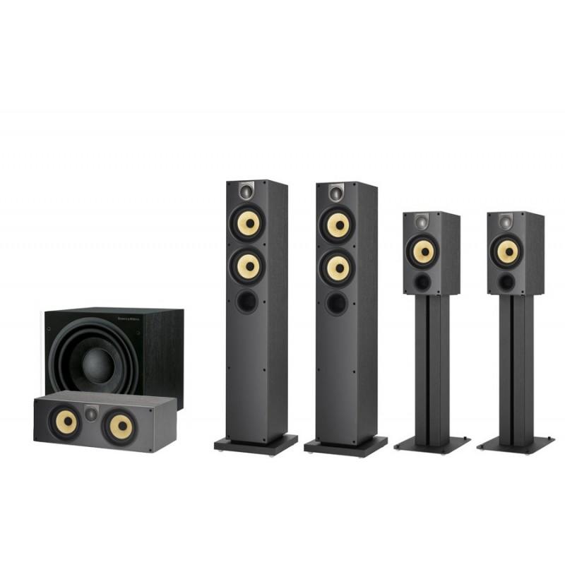 Sistema B&W 684S2 + 686S2 + HTM62S2 + ASW610 color negro