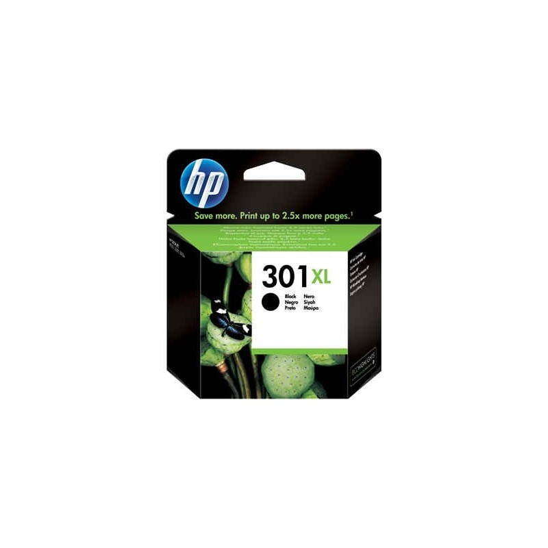 Cartucho de tinta original HP 301XL de alta capacidad negro