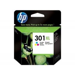 Cartucho de tinta original HP 301XL de alta capacidad Tri-color