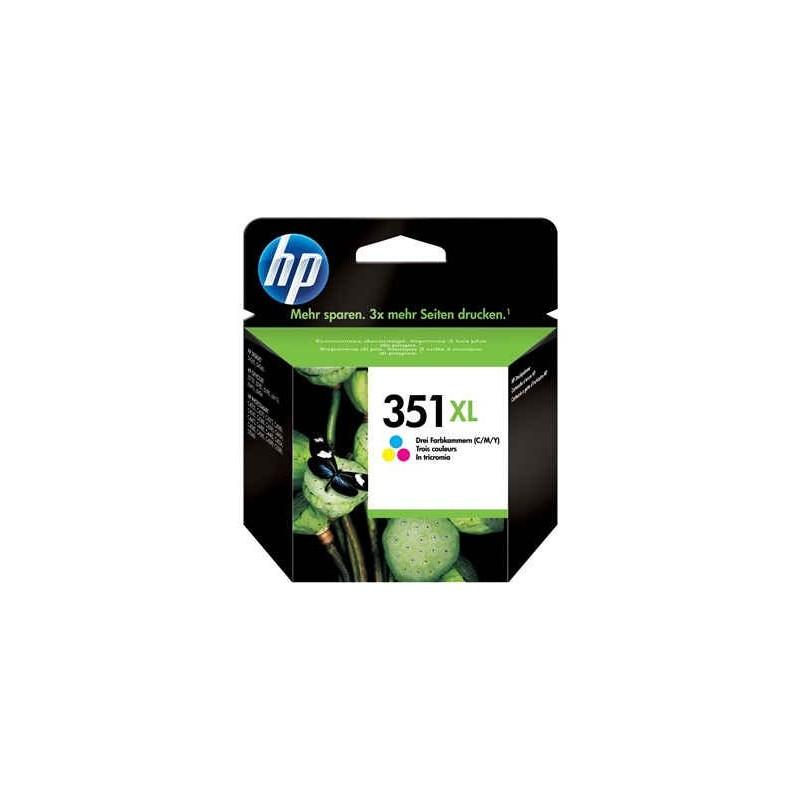 Cartucho de tinta original HP 351XL de alta capacidad Tri-color