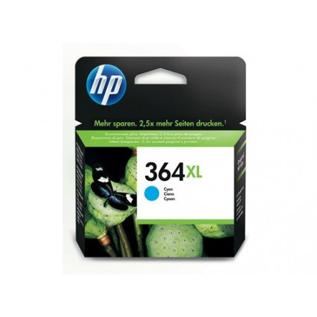Cartucho de tinta original HP 364XL de alta capacidad cian