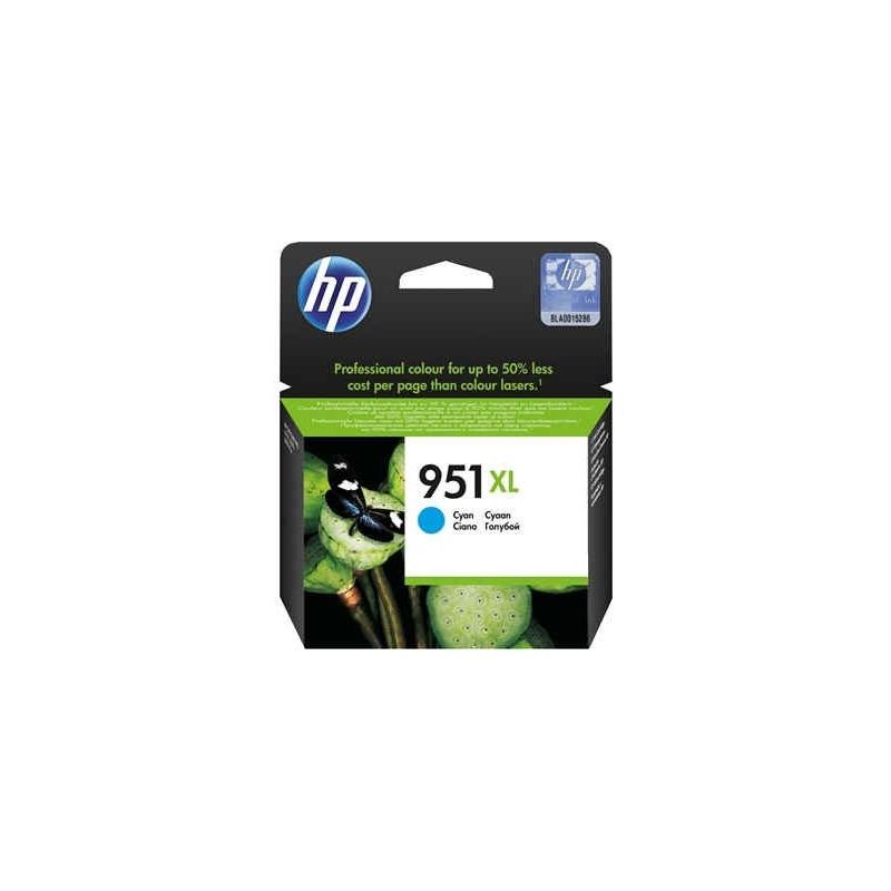 Cartucho de tinta original HP 951XL de alta capacidad cian