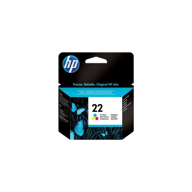 Cartucho de tinta original HP 22 Tri-color