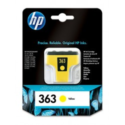 Cartucho de tinta original HP 363 amarillo
