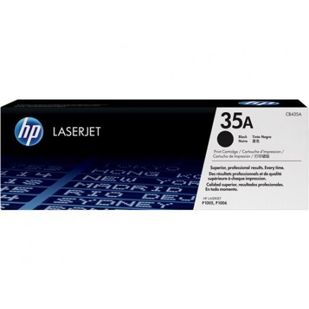 Cartucho de tóner original LaserJet HP 35A negro