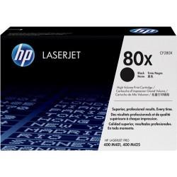 Cartucho de tóner negro HP 80X LaserJet