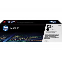 Cartucho de tóner original LaserJet HP 128A negro