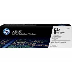 Pack de ahorro de 2 cartuchos de tóner original LaserJet HP 128A negro