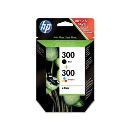 Combo de cartuchos de tinta tricolor y negra HP 300