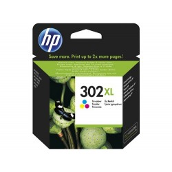 Cartucho de tinta original HP 302XL de alta capacidad tricolor