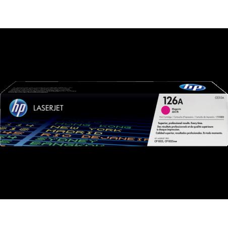 Cartucho de tóner original LaserJet HP 126A magenta
