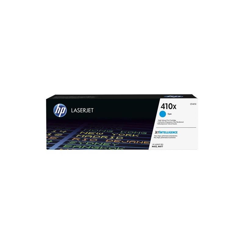 Cartucho de tóner original HP LaserJet 410X cian de alta capacidad