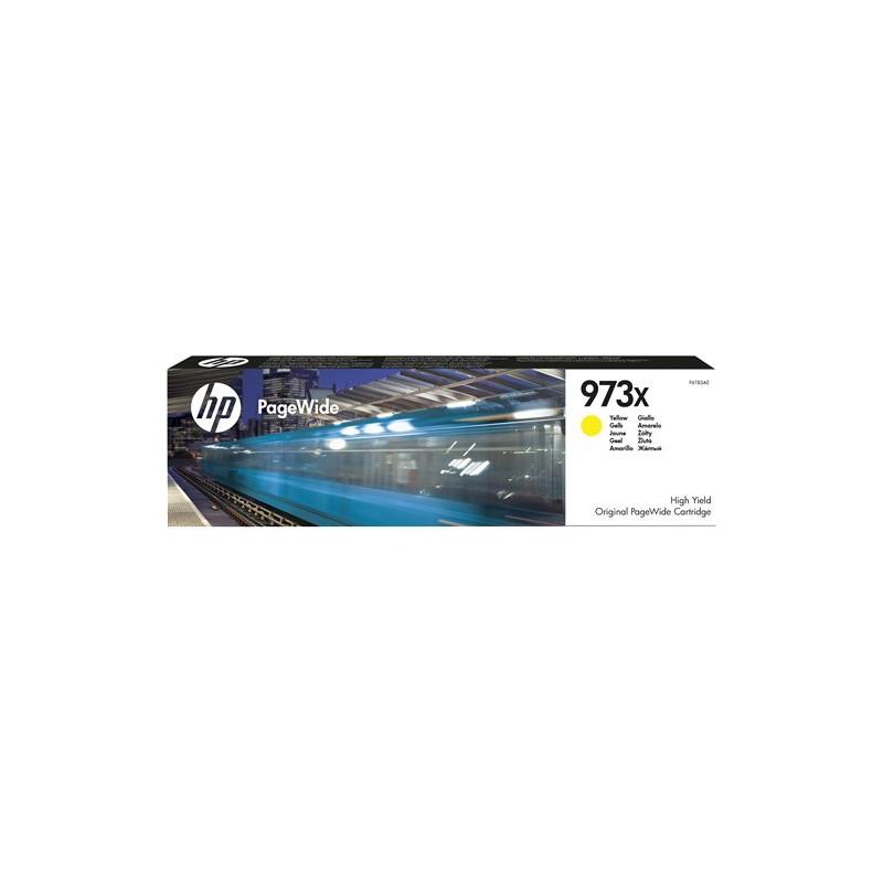 Cartucho amarillo original PageWide HP 973X de alto rendimiento