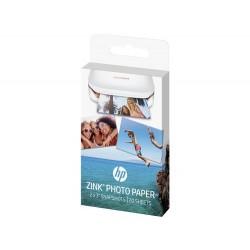 Papel fotográfico adhesivo HP ZINK® Sprocket: 20 hojas/5 x 7,6-cm