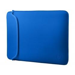 "Funda de neopreno negra/azul 39,62 cm (15,6"" )"