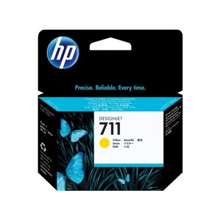 Cartucho de tinta HP 711 amarillo de 29 ml