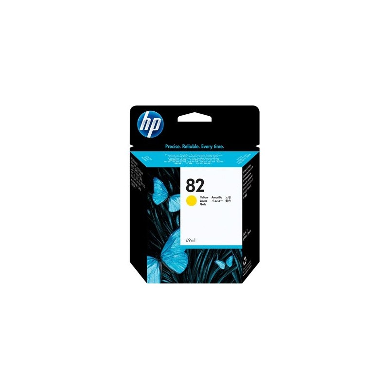 Cartucho de tinta DesignJet HP 82 amarillo de 69 ml