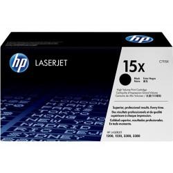 Cartucho de tóner original LaserJet HP 15X de alta capacidad negro