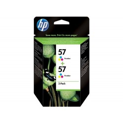 Pack de ahorro de 2 cartuchos de tinta original HP 57 Tri-color