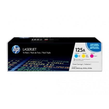 Paquete de tres cartuchos de tóner HP 125A LaserJet
