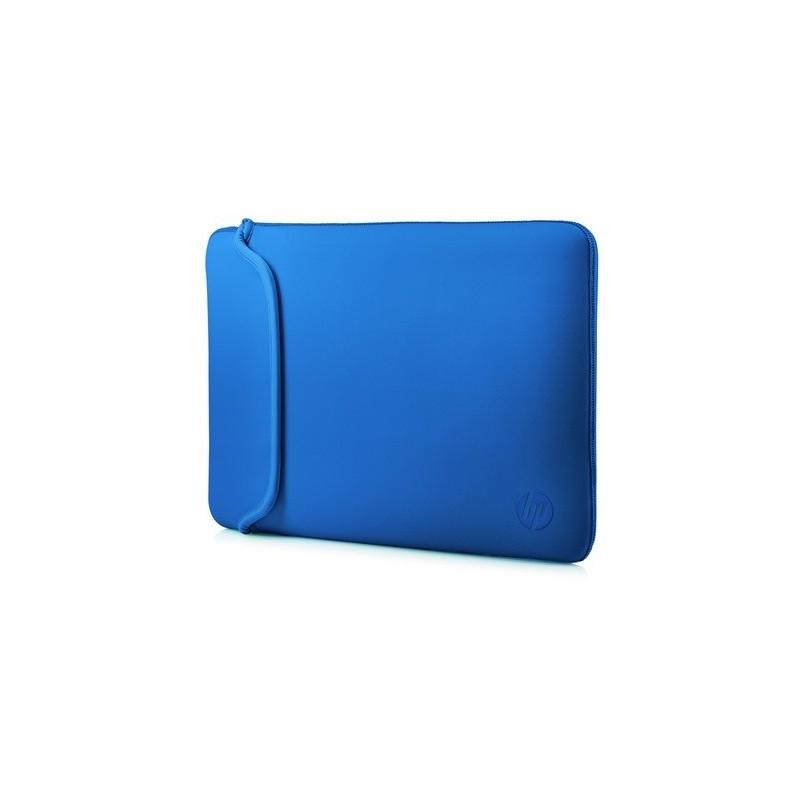 "Funda de neopreno reversible negra/azul HP de 35,56 cm (14"" )"